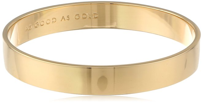 2. The Kate Spade New York Women's Idiom Bangle Solid Gold One Size