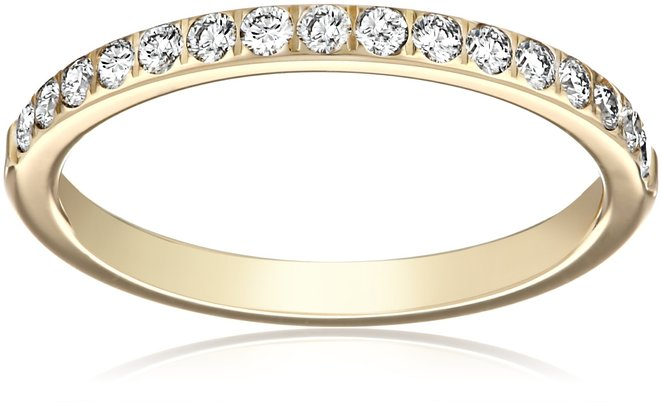 5. 14k Yellow Gold And Diamond Wedding Band