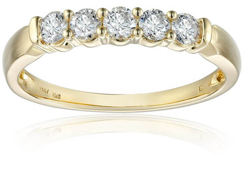2. 14k Yellow Gold-and-Diamond Anniversary Band (1/2 cttw, H-I Color, I2-I3 Clarity)