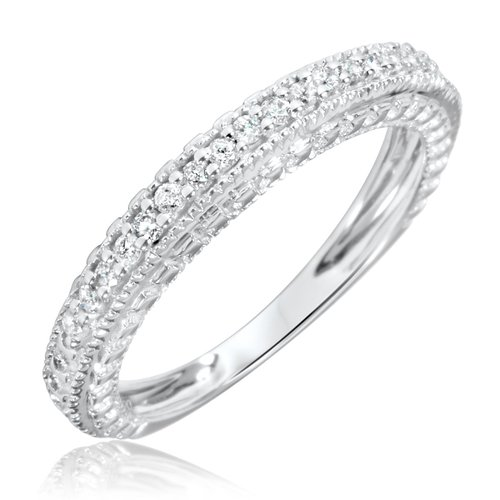 4. 1/5 Carat T.W. Round Cut Diamond Woman's Wedding Ring