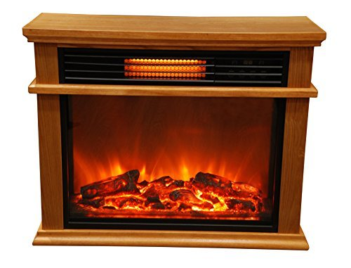 2. Lifesmart Easy Large Room Infrared Fireplace Includes Deluxe Mantle In Burnished Oak & Remote