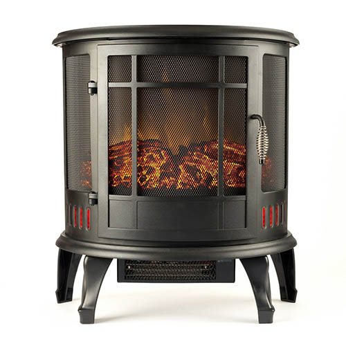 7. Regal Electric Fireplace - e-Flame USA 22 Inch Black Portable Electric Fireplace Stove