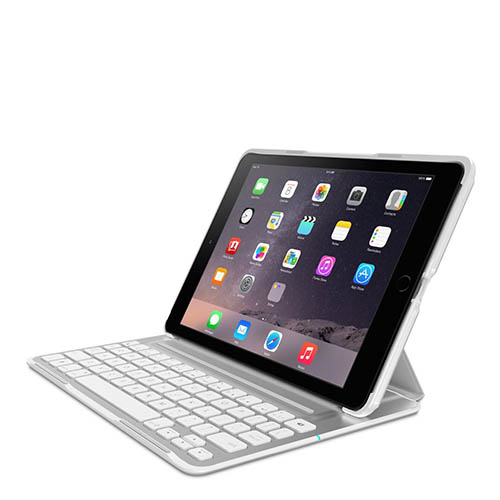 4. Belkin QODE Ultimate Pro Keyboard Case for iPad Air 2 (White)