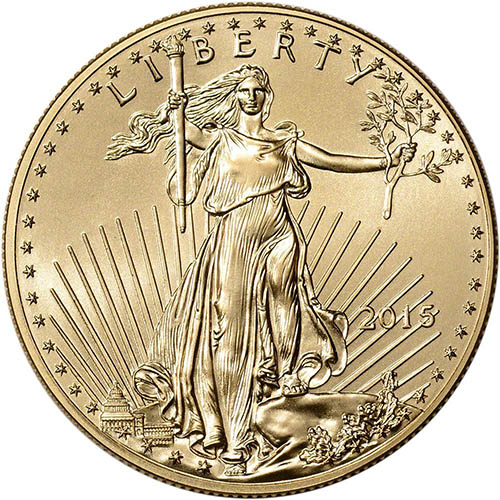 1. 2015 American Gold Eagle $50