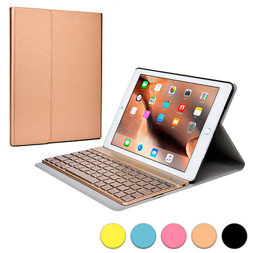 9. Cooper Cases(TM) Aurora Pro Apple iPad Air 2 Keyboard Folio Case 7 Color LED Backlight) and Bluetooth 3.0 connectivity