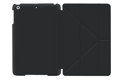 8. iPad Pro Case - roocase Origami 3D iPad Pro 2015 Slim Shell Case [Smart Cover Auto Sleep/Wake], Granite Black / Cool Gray