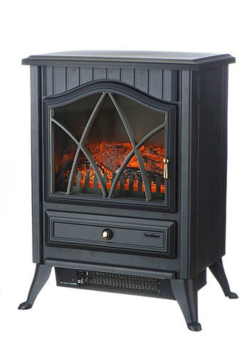 3. VonHaus 1500W Portable Electric Stove Heater Fireplace