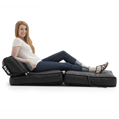 2. Big Joe Flip Lounger, Stretch Limo Black