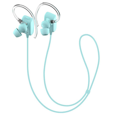 8. GLCON GS-06 Mini Blue Sports Sweatproof Wireless Stereo Bluetooth 4.0 Headset BT Headphones Earphone Earpiece Earbuds with Microphone Mic