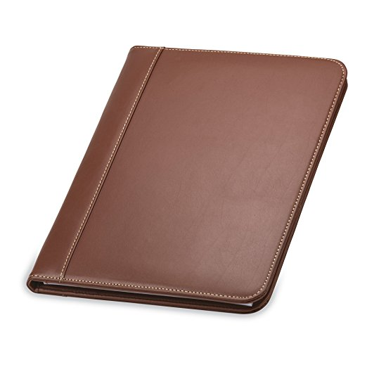 3. Samsill Contrast Stitch Leather Portfolio