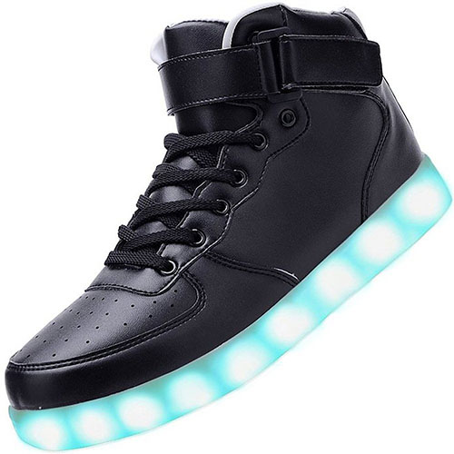 9. USB Charging 7 Colors LED Shoes