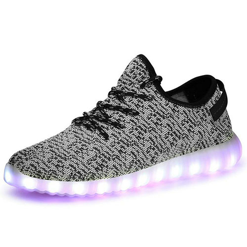 8. Xiujanet Men's Women's LED Shoes