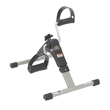 2. Drive Medical Deluxe Folding Exercise Peddler with Electronic Display