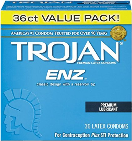 1. Trojan Condom ENZ Lubricated, 36 Count