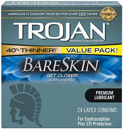 4. Trojan Condom Sensitivity Bareskin Lubricated