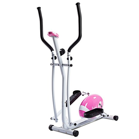 10. Sunny Health and Fitness Pink Magnetic Elliptical Trainer