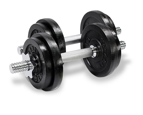 5. Fitness public vinyl coated dumbbell set