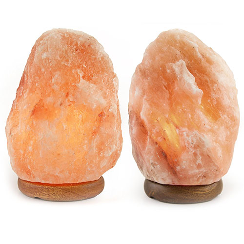 2. Crystal Allies Gallery CA SLS-S-2pc Natural Himalayan Salt Lamp with Dimmable Switch and 6' UL-Listed Cord