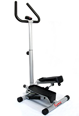 3. Sunny health and fitness twister stepper with handle bar