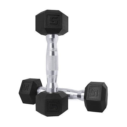 1. CAP barbell color coated hex. Dumbbell