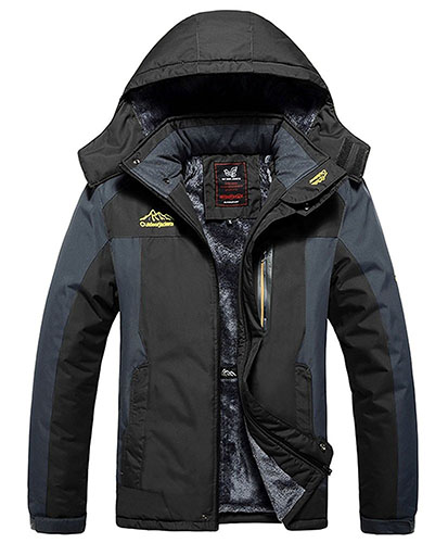9. Ski Jacket Fleece Hooded Outwear