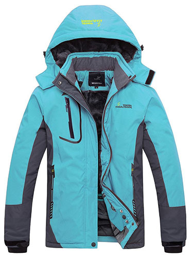 5. Jacket Fleece Windproof Ski Jacket
