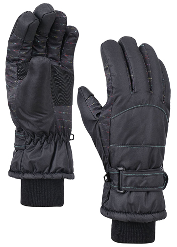 6. Night Galaxy Thinsulate Touchscreen Snow Gloves