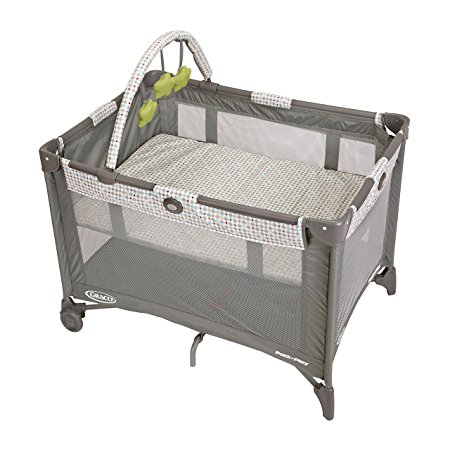 3. Graco Pack N Play Playard Bassinet with Automatic Folding Feet, Pasadena