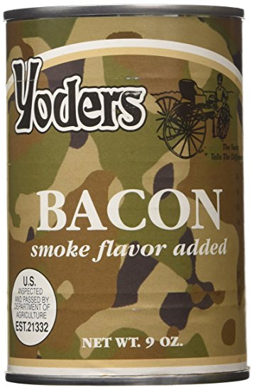 3. Yoders Canned Fully Cooked Bacon, 9 Ounce