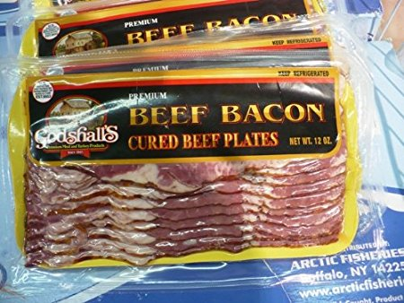 8. Beef Bacon 12 Oz Package, Pkg 3Lb