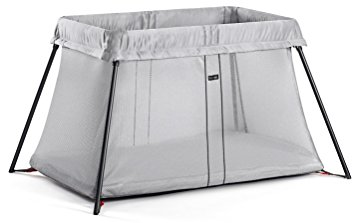10. BABYBJORN Travel Crib Light, Silver