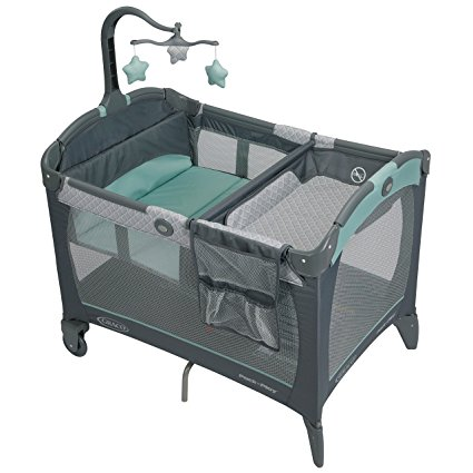 7. Graco Pack 'n Play Playard with Change 'n Carry Portable Changing Pad, Manor