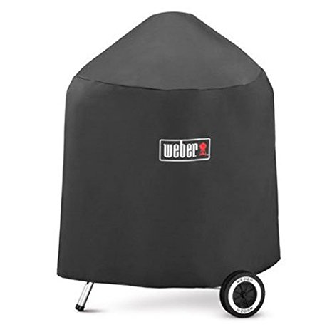 10. Weber 7149 Grill Cover with Storage Bag for Weber Charcoal Grills, 22.5-Inch