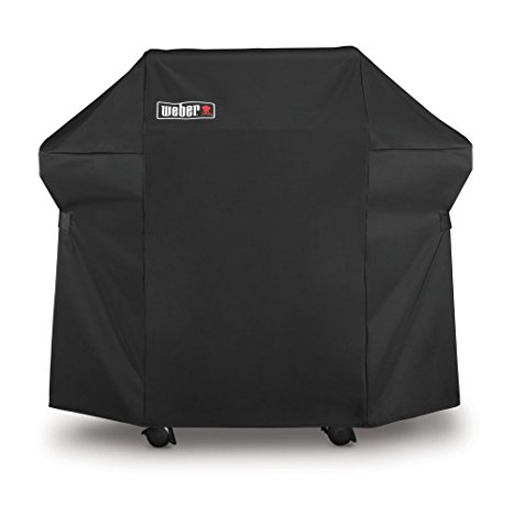 7. Weber 7106 Grill Cover with Storage Bag for Spirit 220 and 300 Series, 52 x 42. 8-Inch, Black