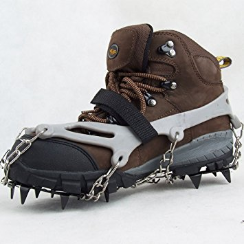 2. Lixada 1 Pair 12 Teeth Claws Crampons Non-slip Shoes Cover