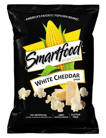 10. Smartfood Popcorn, White Cheddar, 1 Ounce (Pack of 64)