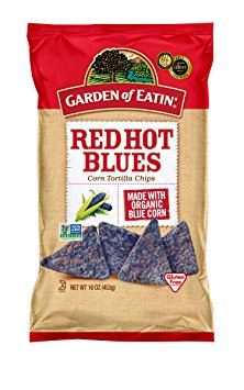 7. Garden of Earth Red Hot Blue Corn Tortilla Chips
