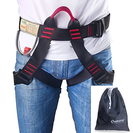 4. Climbing Harness, Oumers Safe Seat Belts For Mountaineering