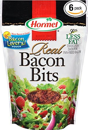 7. Hormel Real Bacon Bits Pouch, 6 Ounce (Pack of 6)