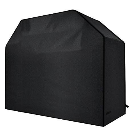 4. Homitt Gas Grill Cover, 58-inch 600D Heavy Duty Waterproof BBQ Grill Cover
