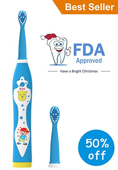 7. OJV Professional Kids Electric Sonic Toothbrush