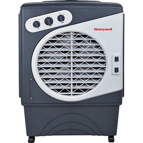5. Honeywell CO60PM 125 Pt. Commercial Indoor/Outdoor Portable Evaporative Air Cooler - White/Grey