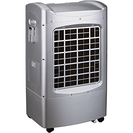 6. Honeywell CL201AE 42 Pt. Indoor Portable Evaporative Air Cooler with Remote Control, Silver