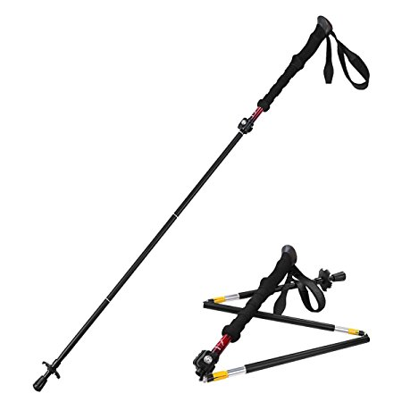 1. Himal 1 PCS folding collapsible travel hiking walking stick