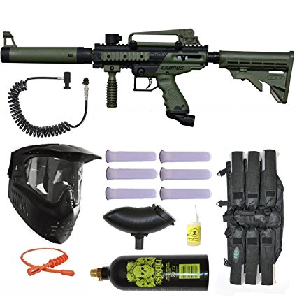 8. Tippmann Cronus tactical olive paintball marker gun power package