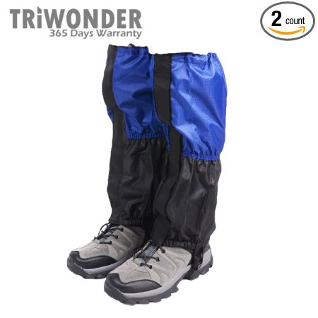 8. Triwonder 1 pair unisex outdoor snow leg gaiters