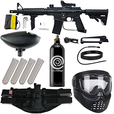 10. Action village Tippmann US army alpha elite foxtrot paintball gun package kit