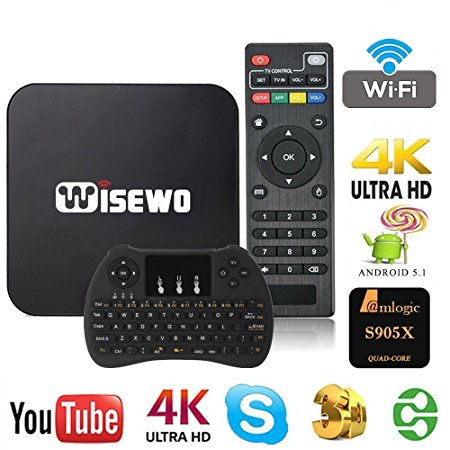 1. WISEWO Android TV Box