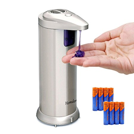 8. Homder Premium Automatic Touchless Soap Dispenser for Bathroom & Kitchen Countertops.