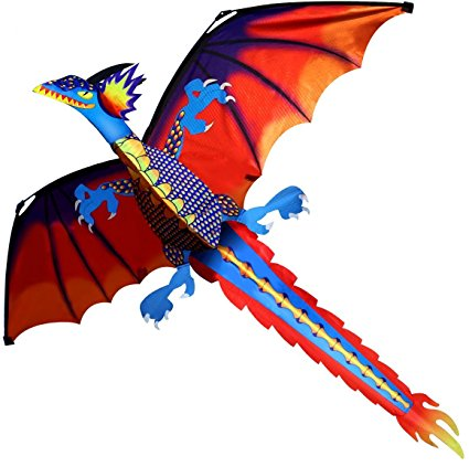 7. Hengda kite- classic dragon kite 140cm x 120cm line with tail